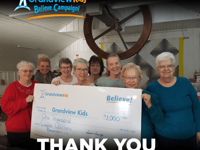 Thank you to Cuddle Quilters Bowmanville for your generous donation.