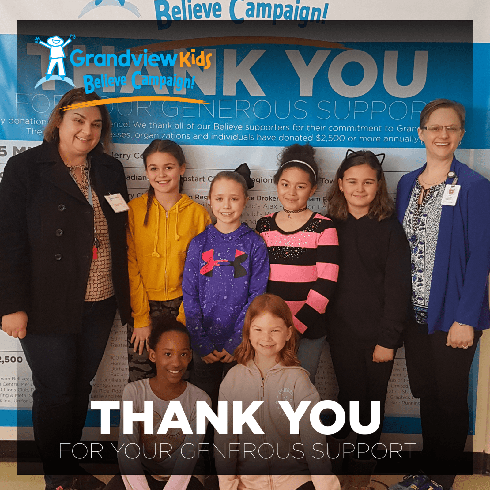 Thank you Harmony Heights Gives Back Club