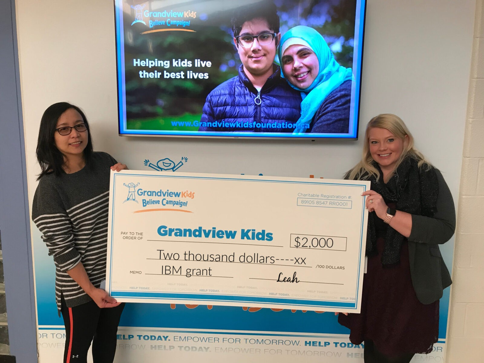 A Grandview Volunteer and Fundraising Champion